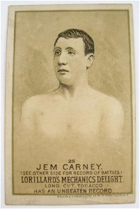 122: Jem Carney #25 Mechanics Delight Boxing Card