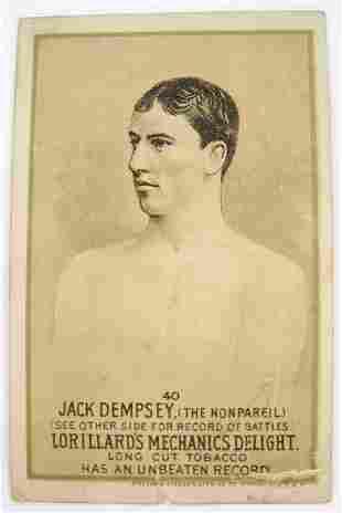 123: Jack Dempsey #40 Mechanics Delight Boxing Card