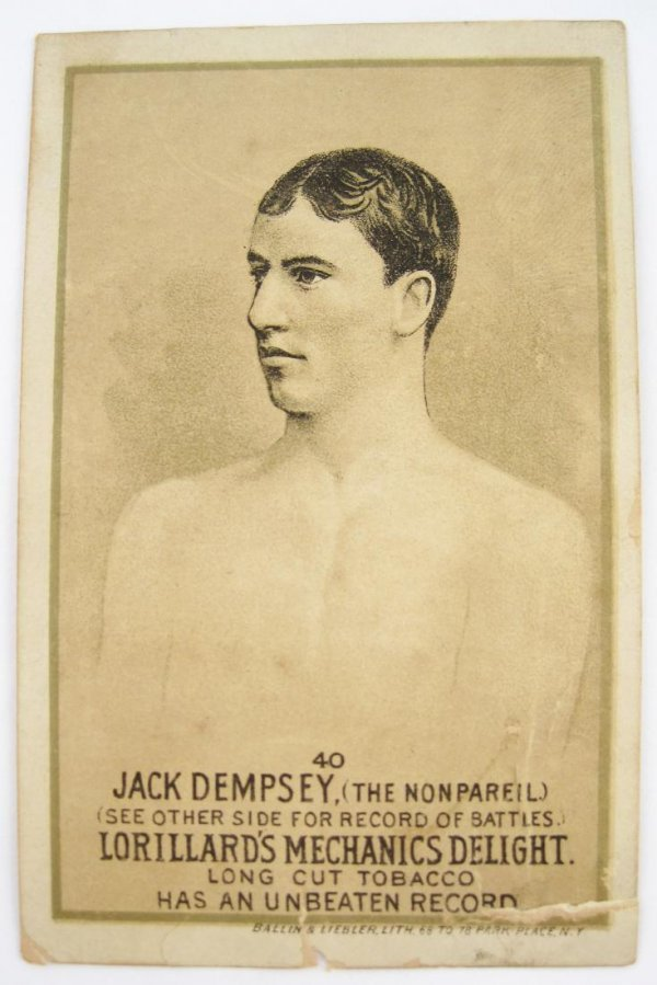 123: Jack Dempsey #40 Mechanics Delight Boxing Card