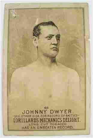 124: Johnny Dwyer #45 Mechanics Delight Boxing Card