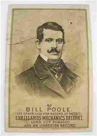 Bill Poole #42 Mechanics Delight Boxing Card