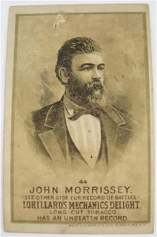 John Morrissey #44 Mechanics Delight Boxing Card