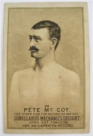 Pete McCoy #24 Mechanics Delight Boxing Card
