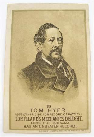 Tom Hyer #33 Mechanics Delight Boxing Card