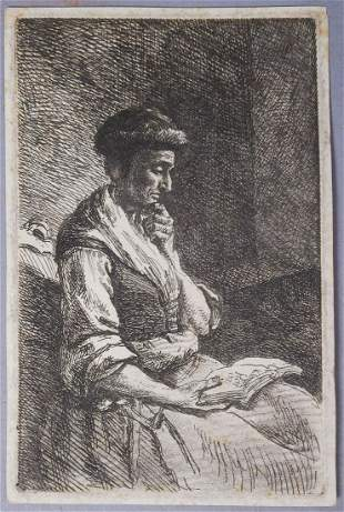Johann Christian Klengel Portrait of Woman Reading