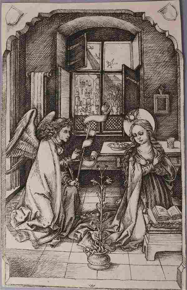 """Charles Amand Durand Etching """"The Annunciation"""""""