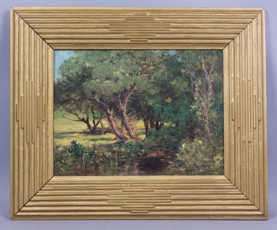Arthur E Blackmore Landscape Oil Ptg Salmagundi Club