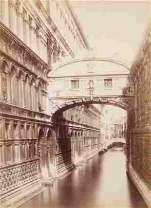Carlo Naya Albumen Photo Venice Canal Ponte dei Sospiri