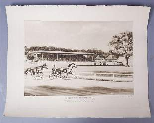 RS Reeves Racehorse Greyhounds Historic Mile Print