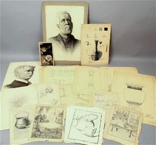 Archive Margaret Hewlett Orig Drawings & Sketches