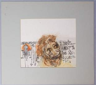 Barton Benes Signed Ink & Watercolor Painting