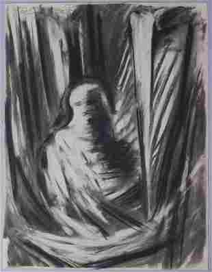 Jozef Jankovic Charcoal Drawing Opaque Figure
