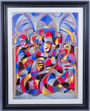 Signed Krasnyansky Print on Canvas