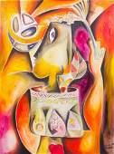Alexandra Nechita Abstract Mixed Media Painting 1
