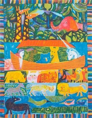 Judith Bledsoe Noah's Ark Artist Proof Signed Print