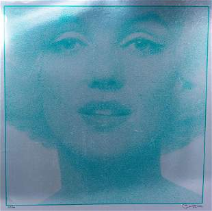 Bert Stern Signed Large Format Marilyn Monroe Mylar