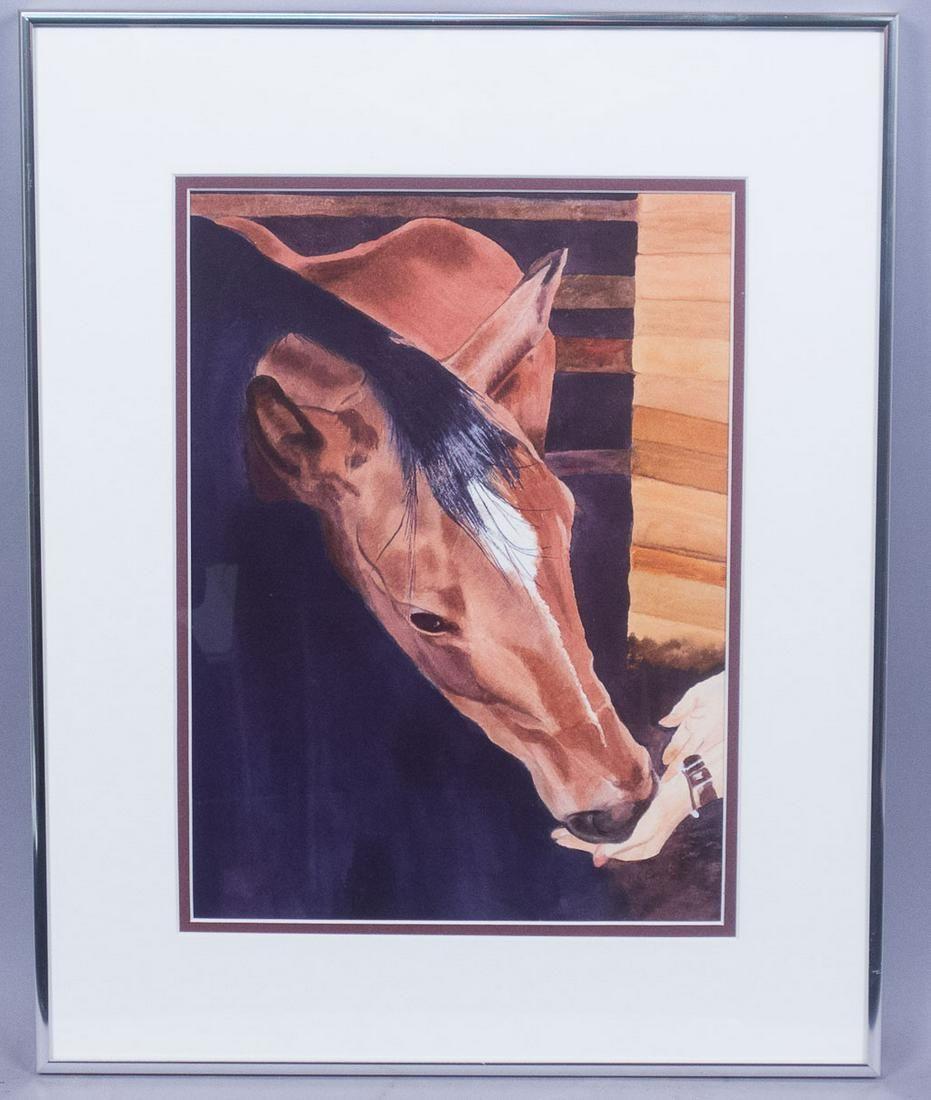 Saratoga Horse Racing Painting Hope for Papa RC Ewell