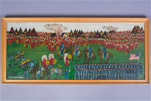 Folk Art Painting John Nithsdale Custer