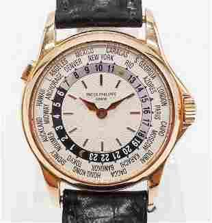 Patek Philippe 18K Rose Gold World Time Wristwatch