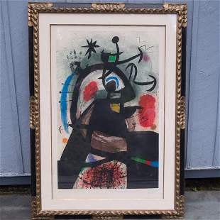 1974 Joan Miro Etching Le Permissionnaire Signed 29/50