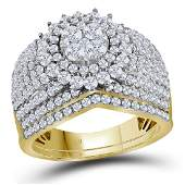 Diamond Cluster Bridal Wedding Engagement Ring 14kt