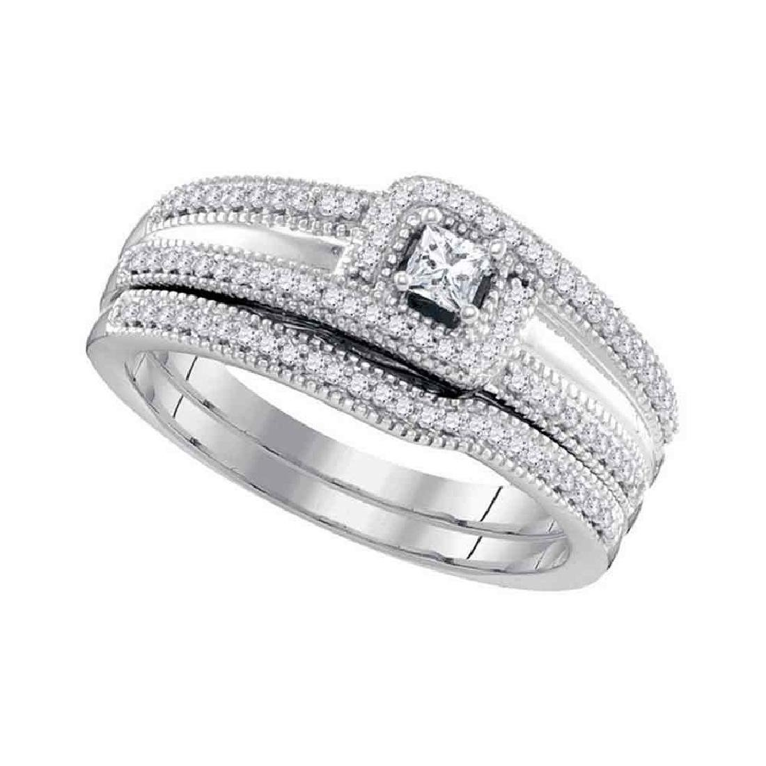 Princess Diamond Bridal Wedding Engagement Ring 10k