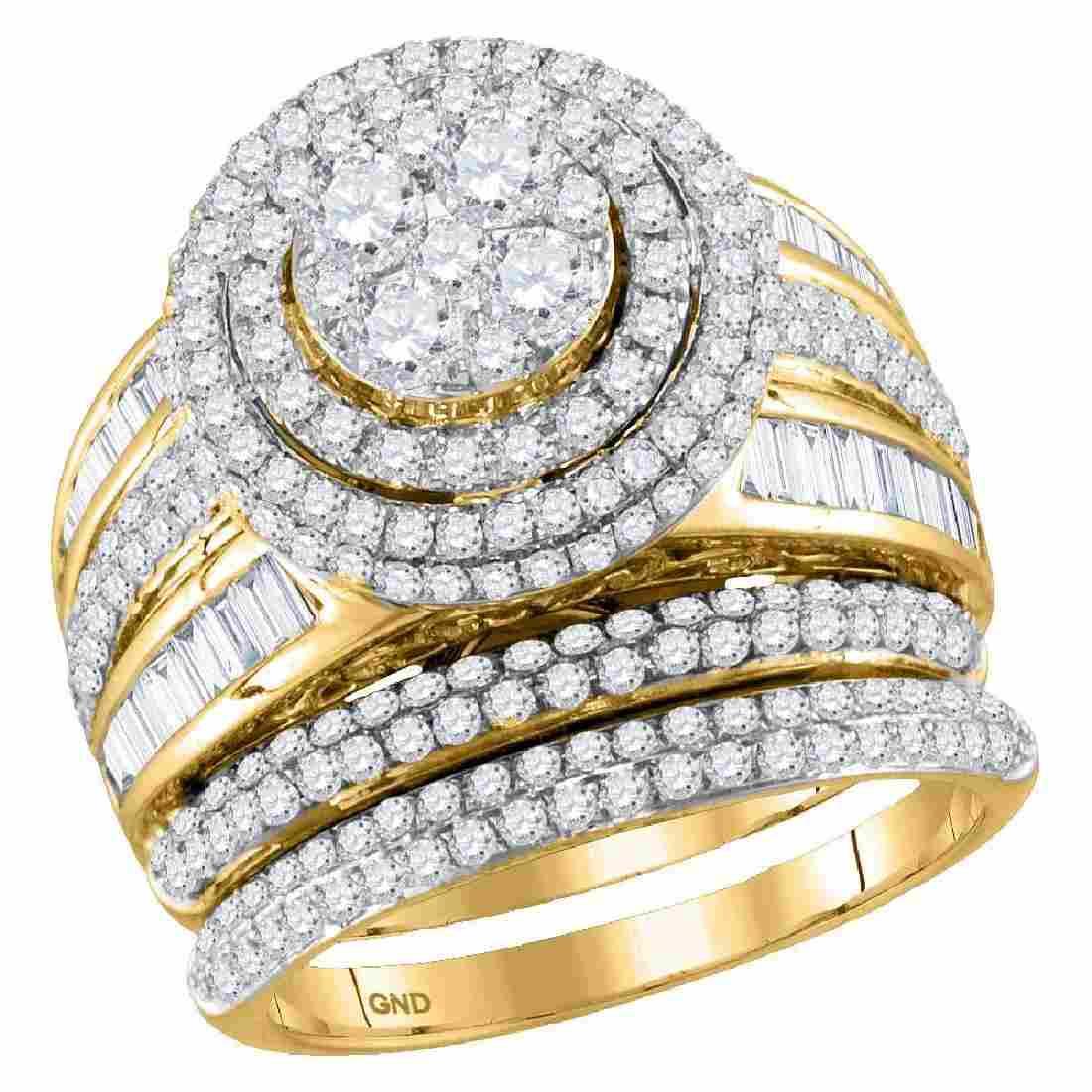 Diamond Cluster Bridal Wedding Engagement Ring 14kt