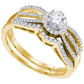 Diamond Splitshank Bridal Wedding Engagement Ring 10kt