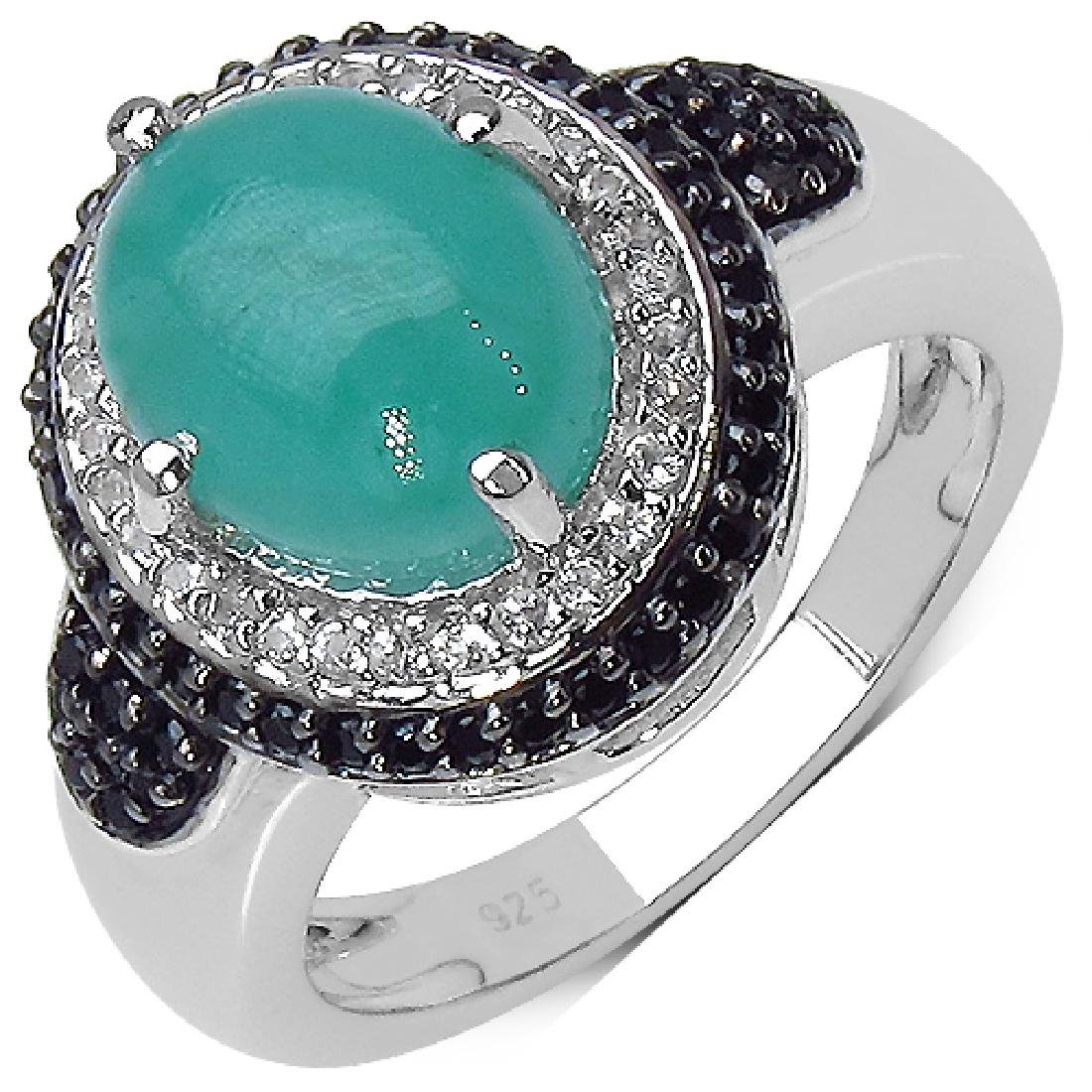3.54 CTW Emerald Ring with 0.66 CTW Multi-Gems in
