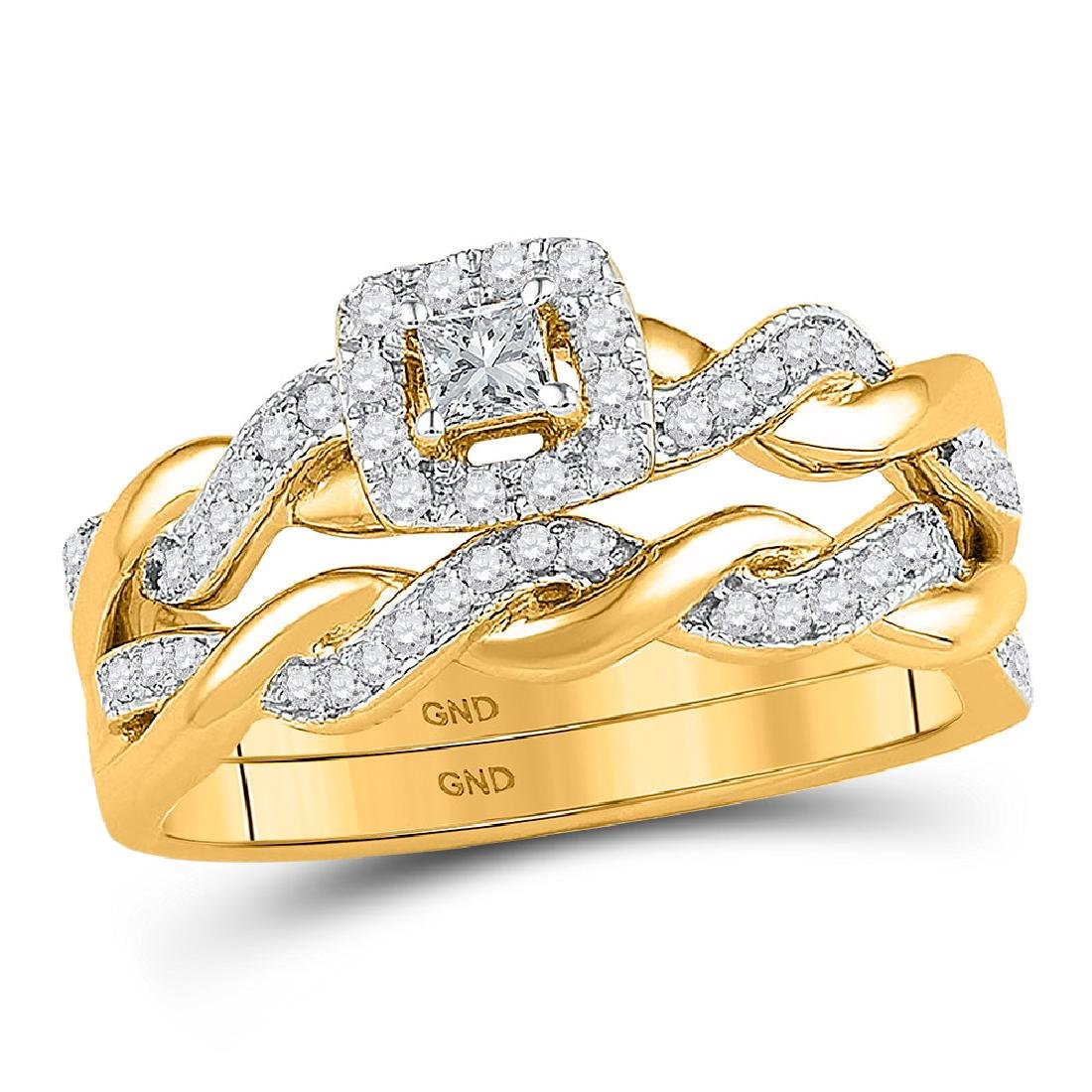 Princess Diamond Bridal Wedding Engagement Ring 10kt