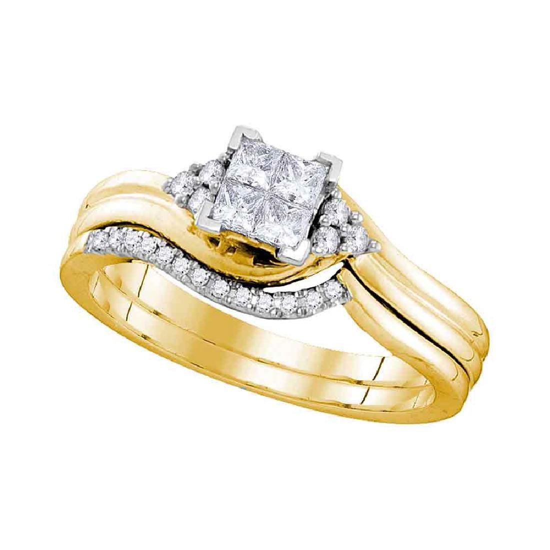 Certified Princess Diamond Bridal Wedding Engagement