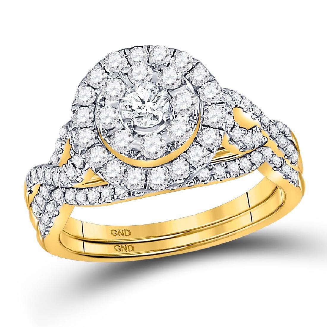 Diamond Bridal Wedding Engagement Ring 14kt Yellow Gold