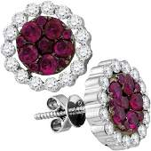 Ruby Diamond Convertible Dangle Jacket Earrings 18kt