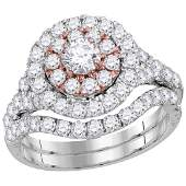 Diamond Double Halo Bridal Wedding Engagement Ring 14kt