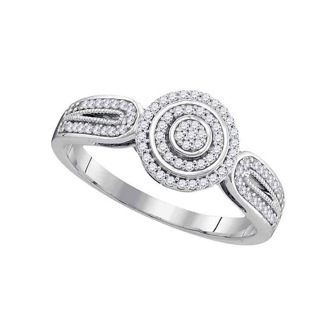 85d90759af177 Diamond Circle Cluster Bridal Wedding Engagement Ring - Aug 03, 2019 ...