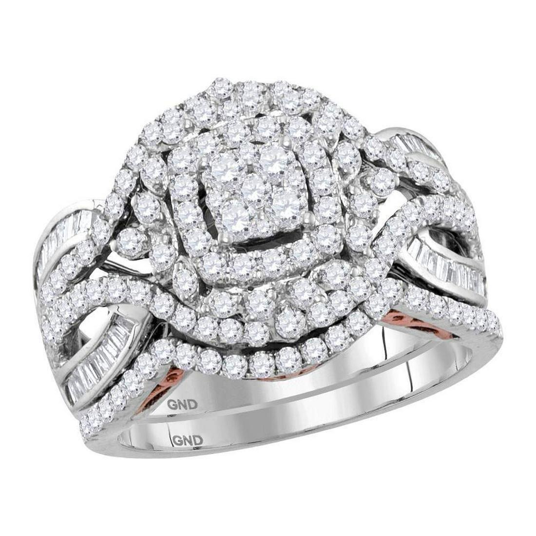 Diamond Bridal Wedding Engagement Ring 14kt Two-tone