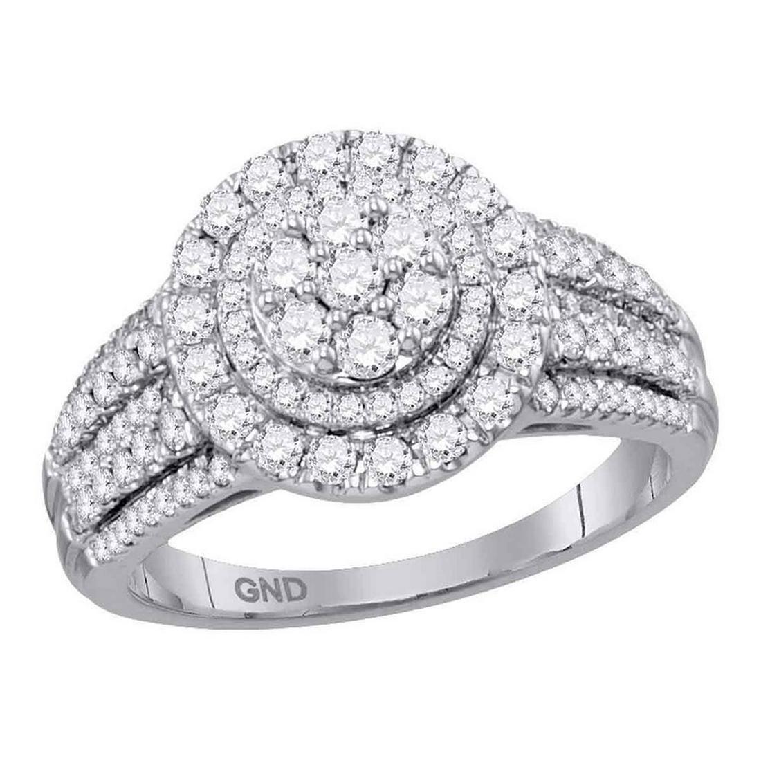 9d8d17b8930ff Diamond Concentric Circle Cluster Bridal Wedding