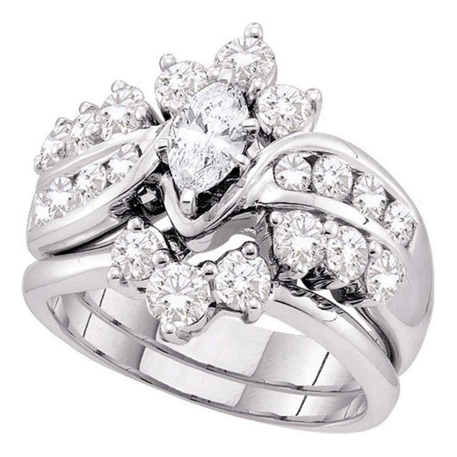 Marquise Diamond Bridal Wedding Engagement Ring 14kt