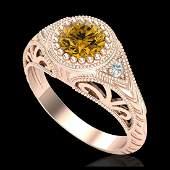 107 ctw Intense Fancy Yellow Diamond Art Deco Ring 18K