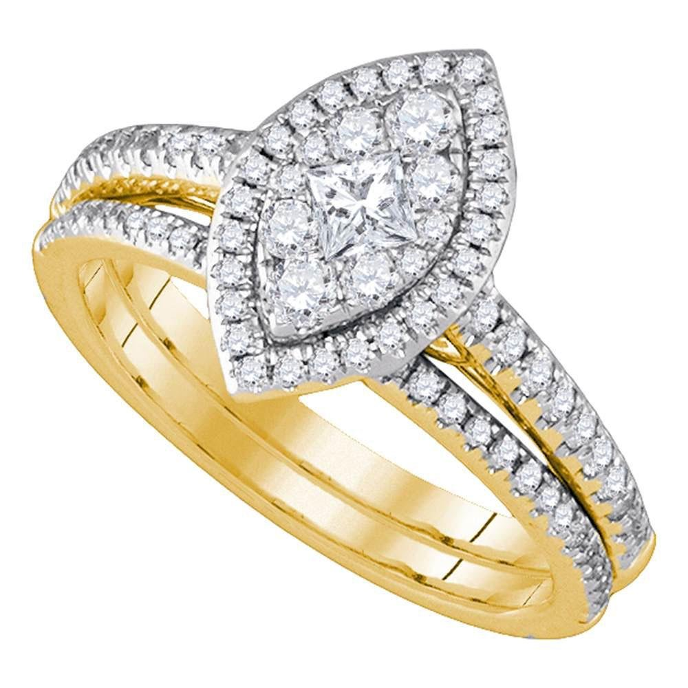 14K Yellow Gold Ring Marquise 0.72ctw Diamond