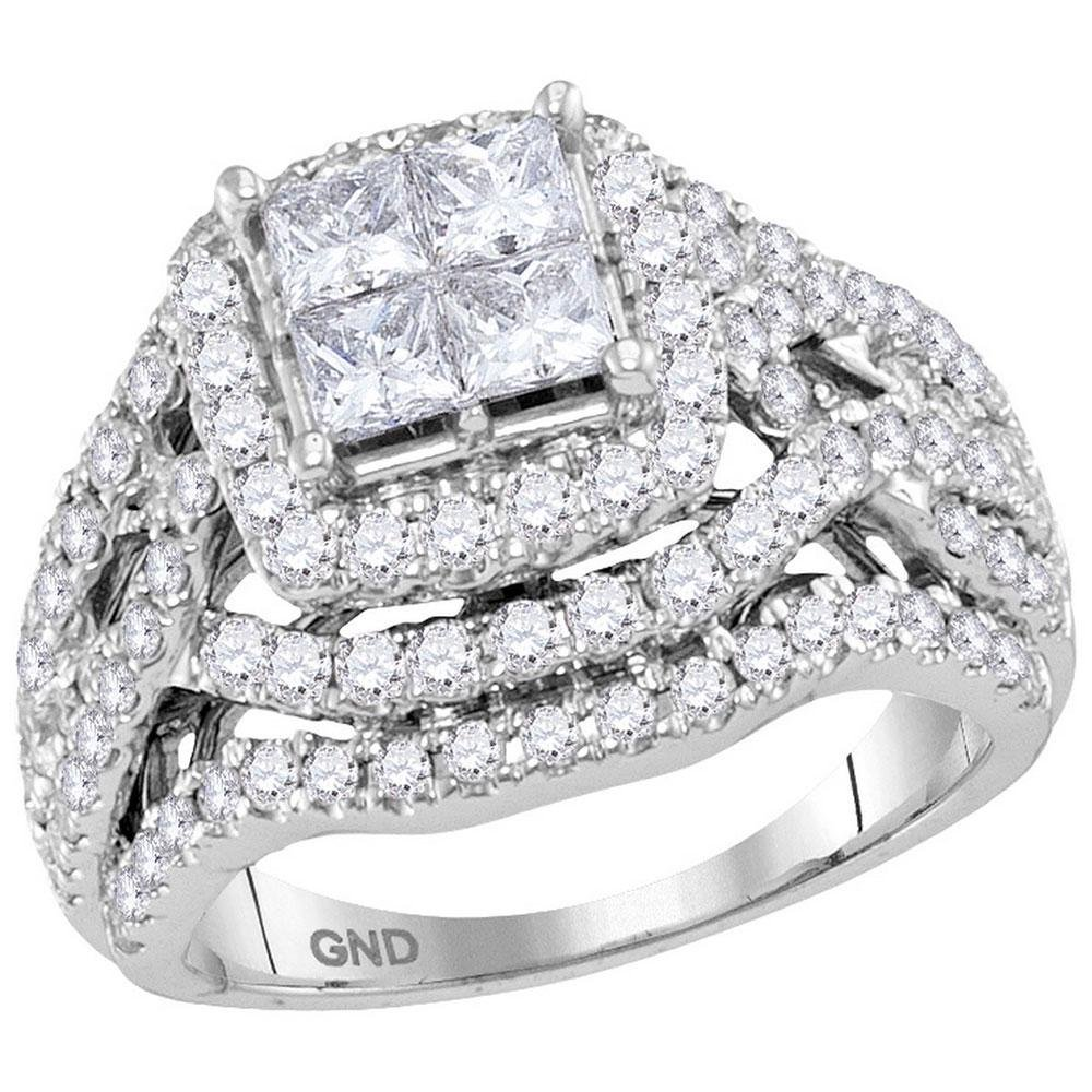 14K White Gold Ring Invisible 0.15ctw Diamond