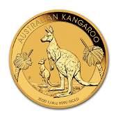 2020 Australia 14 oz Gold Kangaroo BU