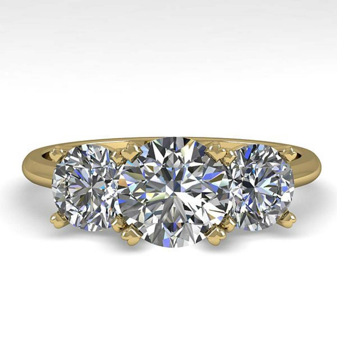 2 ctw VS/SI Diamond Past Present Future Ring 18K Yellow