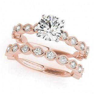 202 ctw VSSI Diamond 2pc Wedding Set 14K Rose Gold
