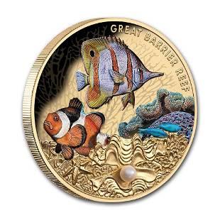 2020 Niue 1 oz Proof Gold Australian Great Barrier Reef