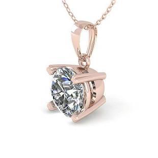050 ctw VSSI Diamond Necklace 14K Rose Gold