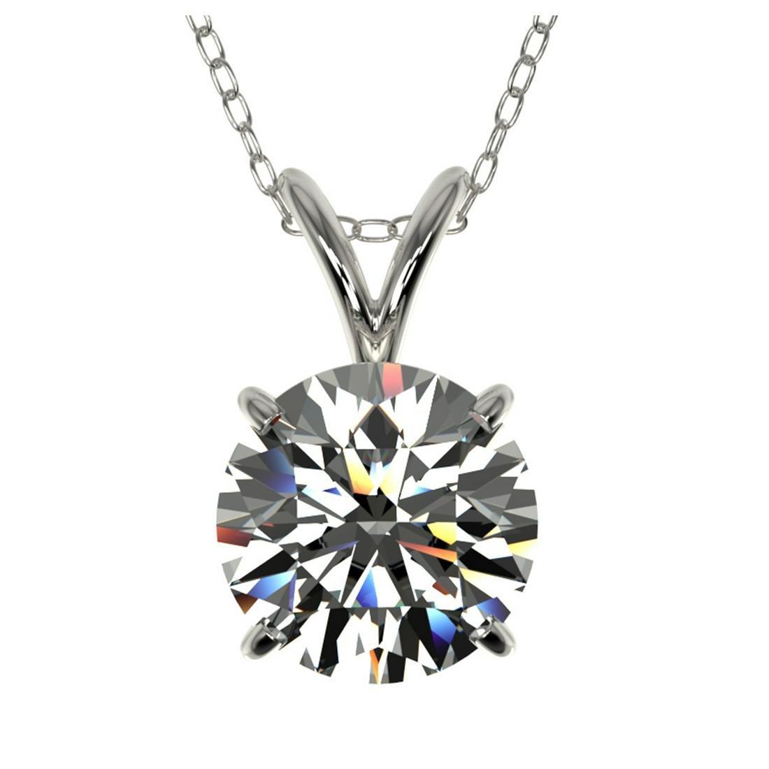 1.50 ctw H-SI/I Diamond Necklace 10K White Gold