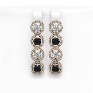 622 ctw Black Diamond Earrings 18K Rose Gold