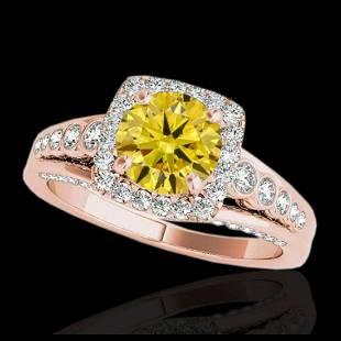 175 ctw SII Fancy Intense Yellow Diamond Ring 10K
