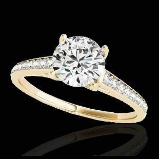 150 ctw HSII Diamond Solitaire Ring 10K Yellow Gold